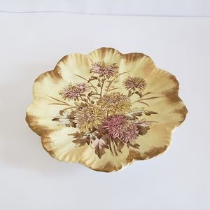 Early china B&M Hand painted Scalloped edge plate